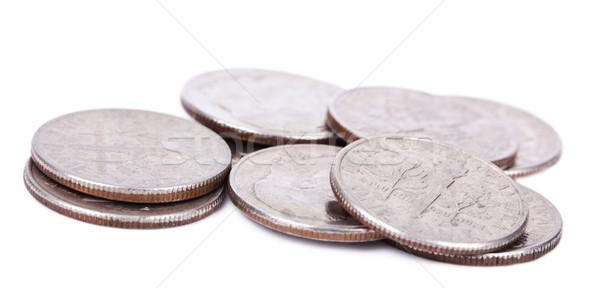 isolated Pile of US Dimes Stock photo © eldadcarin