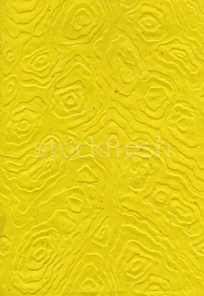 Rice Paper Texture - Mandalas Yellow XXXXL Stock photo © eldadcarin