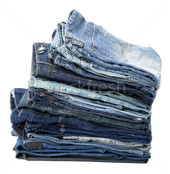 Isolated Jeans Stack Stock photo © eldadcarin