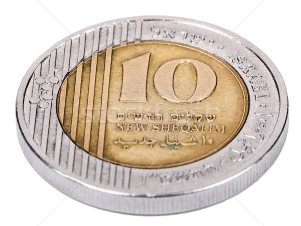 Isolated 10 Shekels - Tails High Angle Stock photo © eldadcarin