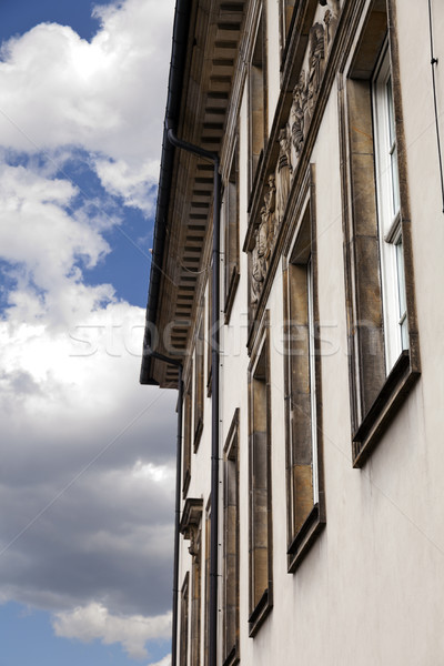 Classic Building & Cloudy Sky Stock photo © eldadcarin