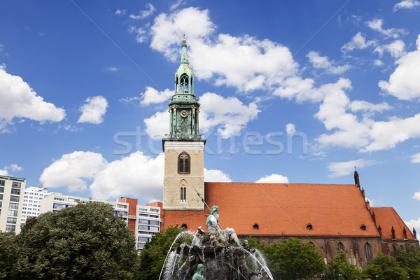 教会 噴水 表示 古代 ストックフォト © eldadcarin