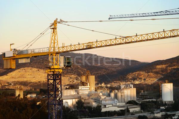 Wiejski fabryki górę wieża powyżej przemysłowych Zdjęcia stock © eldadcarin