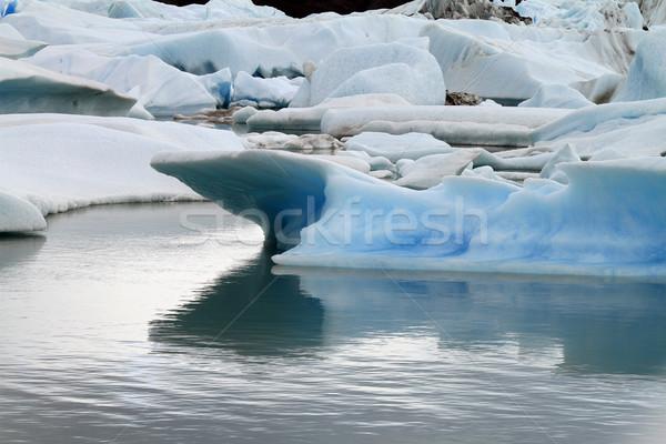 Lodowiec ameryka południowa lodu niebieski jezioro Zdjęcia stock © eldadcarin