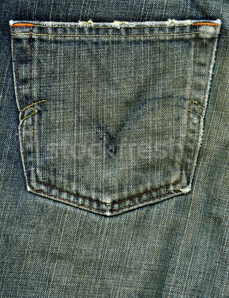 Denim Fabric Texture - Worn Out Pocket Stock photo © eldadcarin