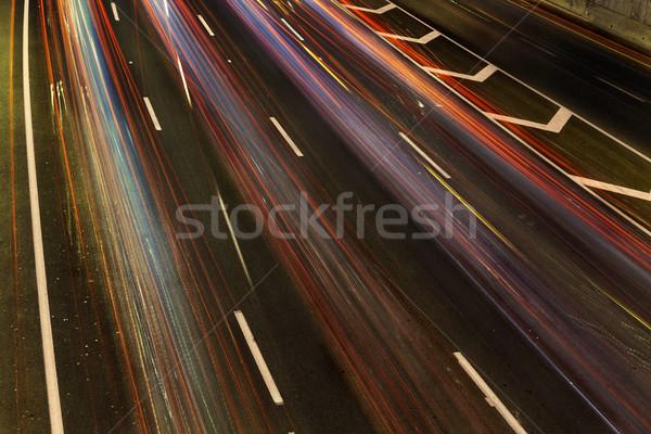 Verkeer regenboog rivier kleurrijk licht alle Stockfoto © eldadcarin