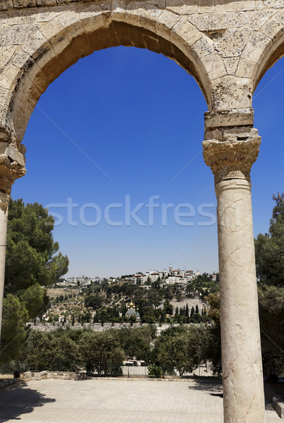 Mount of Olives from Dome of the Rock Stock photo © eldadcarin