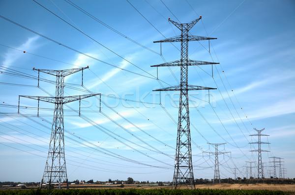 Rural High Voltage Electricity Stock photo © eldadcarin