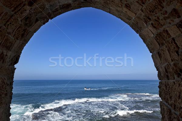 Arch View to the Sea Stock photo © eldadcarin