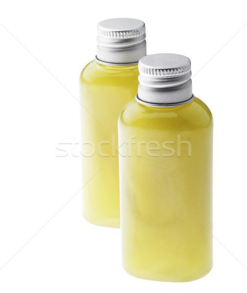 Izolált zöld gél üvegek kettő kicsi Stock fotó © eldadcarin
