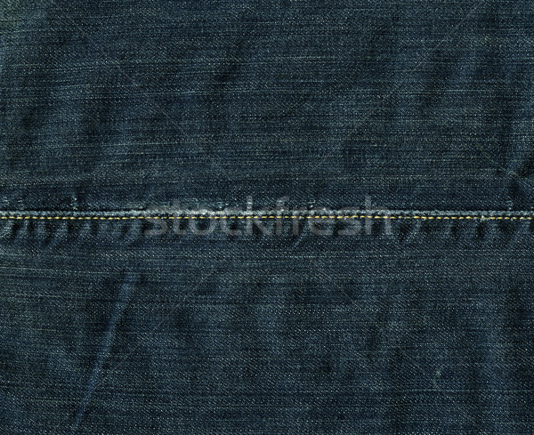 Denim Fabric Texture - Imperial Blue With Stitch XXXXL Stock photo © eldadcarin