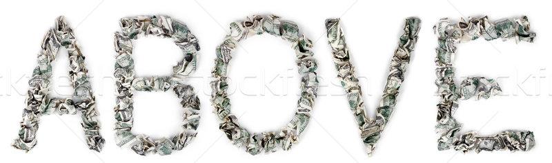 Stockfoto: Boven · 100 · woord · uit · geïsoleerd