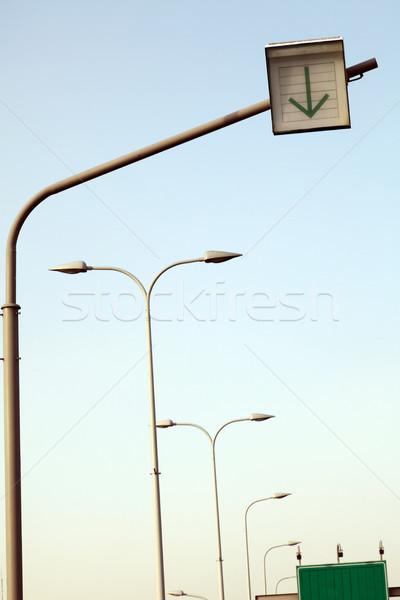 Jelzőtáblák utca fények jelzőtábla csetepaté másik Stock fotó © eldadcarin