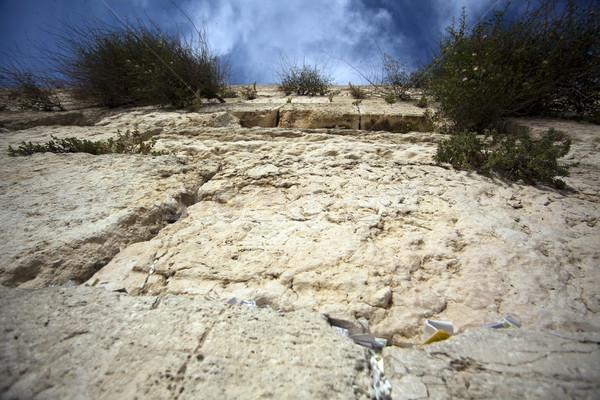 Caixa de correio parede velho cidade Jerusalém Foto stock © eldadcarin