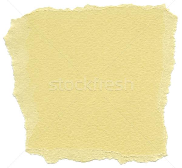 Isolated Fiber Paper Texture - Buff Yellow XXXXL Stock photo © eldadcarin