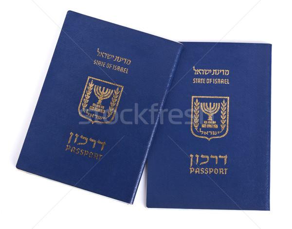изолированный израильский два белый бумаги печать Сток-фото © eldadcarin