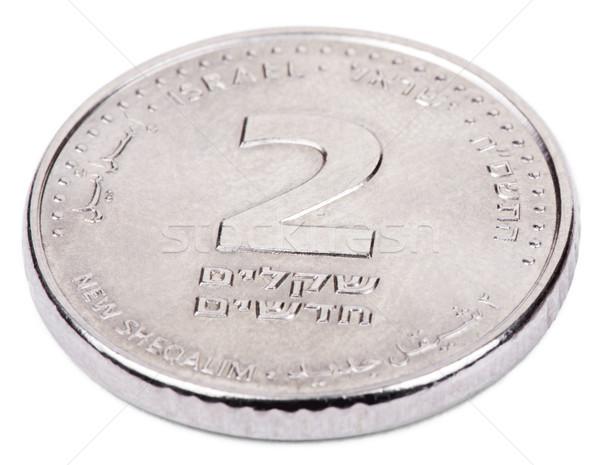 Aislado lado israelí moneda valor Foto stock © eldadcarin