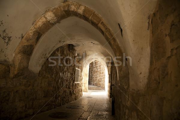 Zdjęcia stock: Starych · Jerozolima · tunelu · pieszy · kwartał · miasta