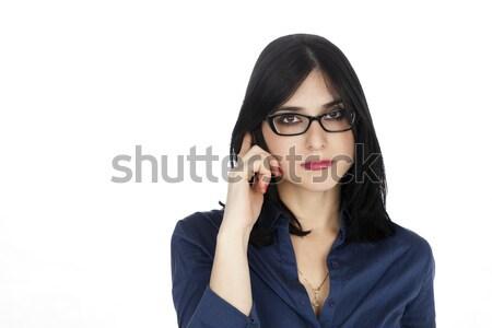 Business Woman Listening on the Phone Stock photo © eldadcarin