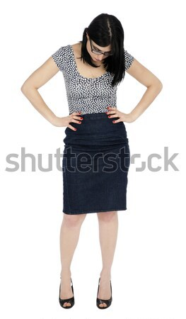 Isolated 30's Woman Looking Down Stock photo © eldadcarin