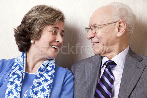 Elderly Couple in Love - Close Up Stock photo © eldadcarin