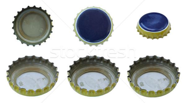 Сток-фото: синий · желтый · металл · шесть · Focus