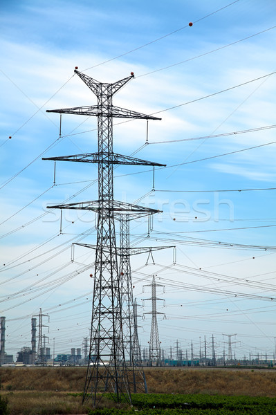 Power Lines & Phosphate Quarry Stock photo © eldadcarin