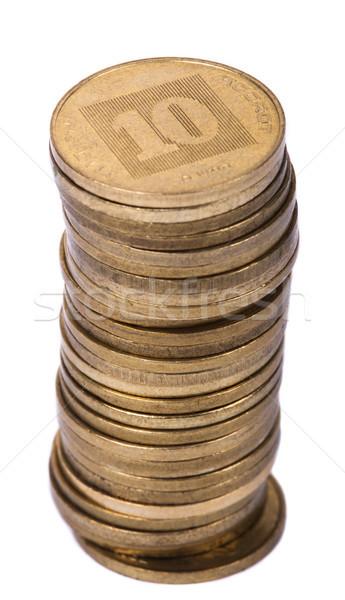 изолированный израильский 10 монеты Сток-фото © eldadcarin