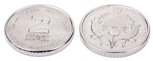 Isolated 2 Shekels - Both Sides High Angle Stock photo © eldadcarin