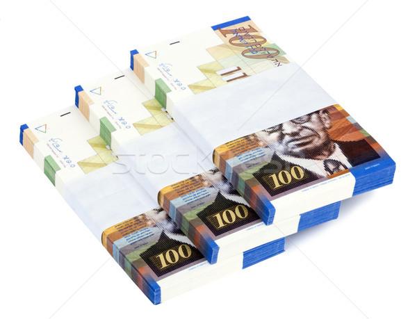 Isolated 100 NIS Bills Stacks Staircase Stock photo © eldadcarin