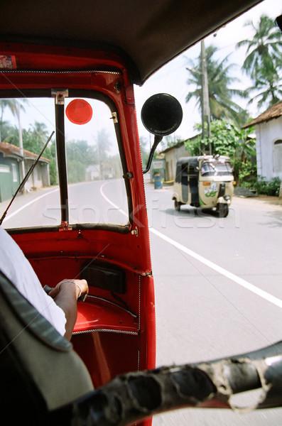 Görmek yol içinde pencere hurma ağacı sürücü Stok fotoğraf © eldadcarin
