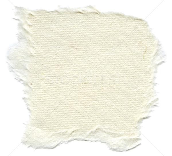 Isolated Rice Paper Texture - Cream White XXXXL Stock photo © eldadcarin