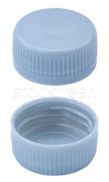 Isolato argento plastica bottiglia due cap Foto d'archivio © eldadcarin