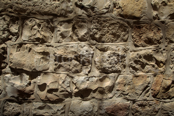 石の壁 ラフ 黄色 有名な エルサレム ストックフォト © eldadcarin