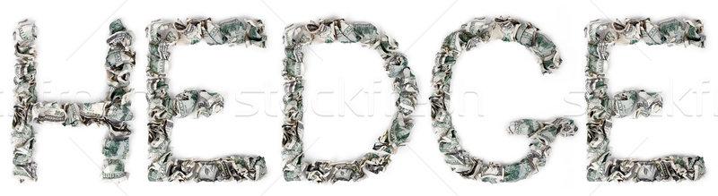 Hedge - Crimped 100$ Bills Stock photo © eldadcarin