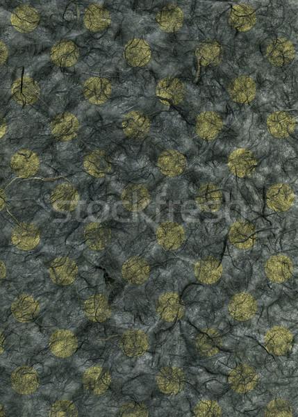 Rice Paper Texture - Yellow Polka Dots Stock photo © eldadcarin
