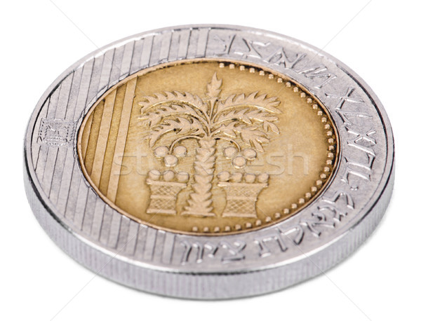 Isolated 10 Shekels - Heads High Angle Stock photo © eldadcarin