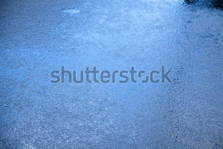 Nat asfalt blues regen Blauw Stockfoto © eldadcarin