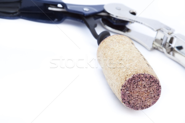 Isolated Cork & Opener - Macro Stock photo © eldadcarin
