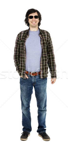 Smiling Casual 30's Guy with Sunglasses Stock photo © eldadcarin