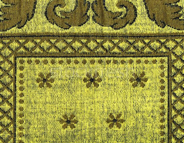 Katoen weefsel textuur Geel patronen hoog Stockfoto © eldadcarin