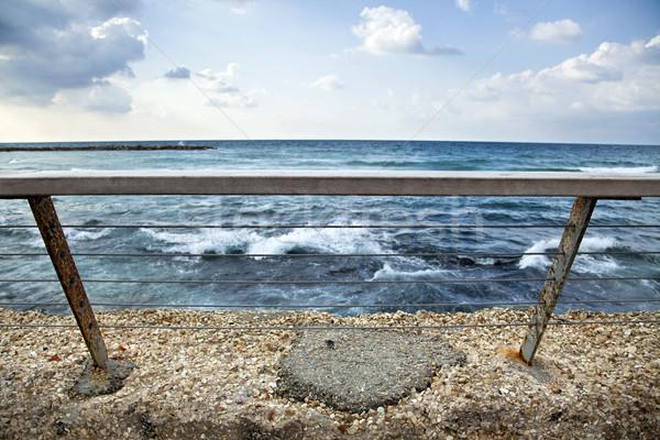 Sea Behind Banister Stock photo © eldadcarin