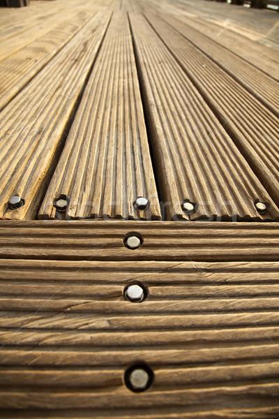 Diminuendo legno deck piano luce del sole grandangolo Foto d'archivio © eldadcarin