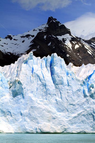 Gletsjer water meer hemel Stockfoto © eldadcarin