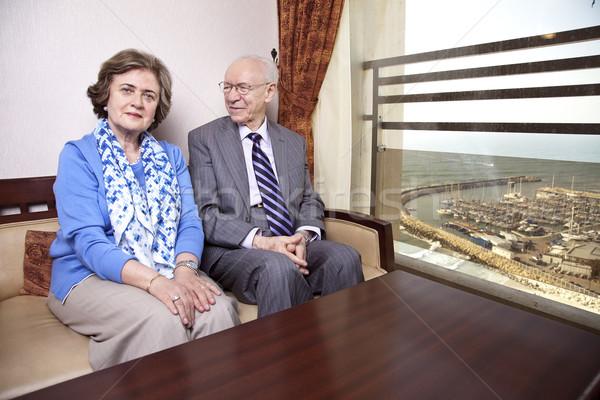 Happy Elderly Couple Stock photo © eldadcarin