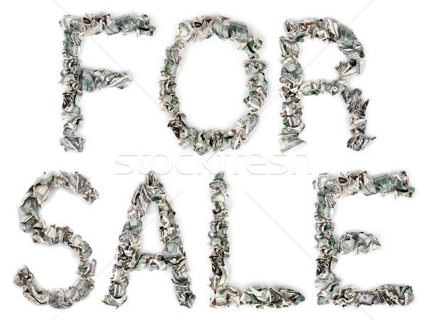 For Sale - Crimped 100$ Bills Stock photo © eldadcarin
