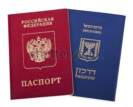 Podwoić obywatelstwo amerykański rosyjski USA odizolowany Zdjęcia stock © eldadcarin