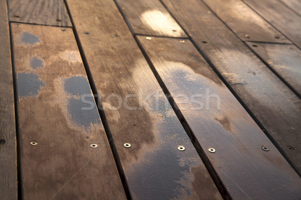 Wet Wooden Deck Stock photo © eldadcarin