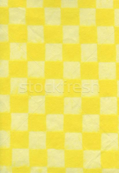 Rice Paper Texture - Checkered Yellow XXXXL Stock photo © eldadcarin