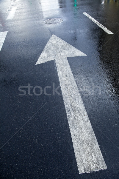Wet Street Arrow Forward Stock photo © eldadcarin